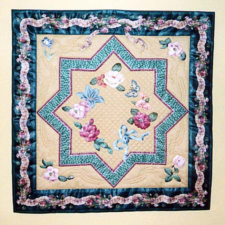 [Broderie Perse Star Quilt]