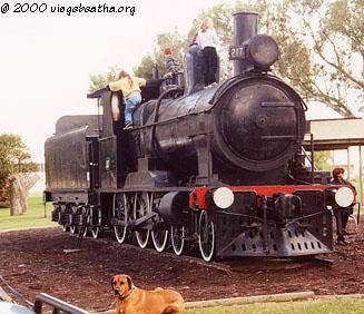 [Steam locomotive in Gawler Linear Park]