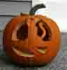 [Lucy's Jack O'Lantern (after sitting out a couple days, unfortunately!)]