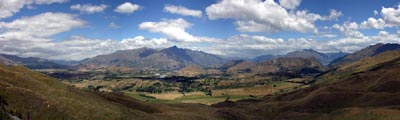 [Shotover River Valley from Coronet Ski Area (outside Queenstown)]